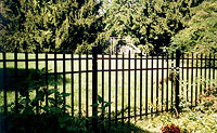 Delgard Commercial Tahoe Aluminum Fence