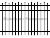 Staggered Spear Point Aluminum Fence