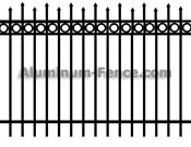 Staggered Spear Point Aluminum Fence with Circles
