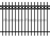 Spear Point Aluminum Fence with Circles