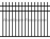 Spear Point Aluminum Fence with Flush Bottom