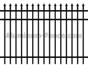 Decorative Spear Point Aluminum Fence
