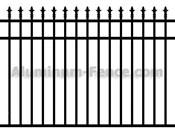 Decorative Spear Point Aluminum Fence with Flush Bottom