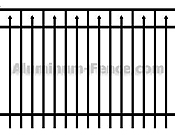 Closed Top Aluminum Fence with Pickets