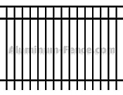 Closed Top Aluminum Fence