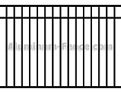 Closed Top Aluminum Fence Pool Code