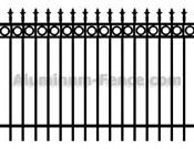 Decorative Spear Point Aluminum Fence with Circles