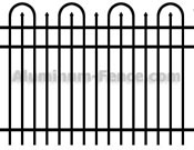 Hoop with Spear Point Aluminum Fence