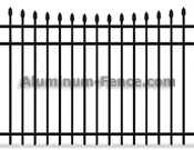 Concave spear point Aluminum Fence