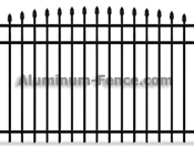 Convex Spear Point Aluminum Fence